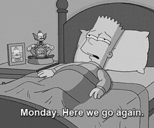 bart, black and white, and monday image