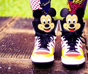 shoes, mickey mouse, and mickey image