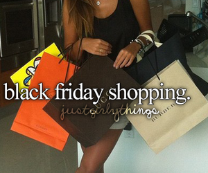 girl, shopping, and black image