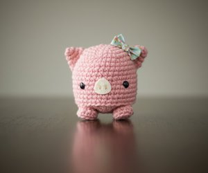crochet, piggy, and pink image