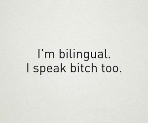 bitch, quote, and bilingual image