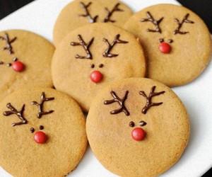 christmas, food, and reindeer image
