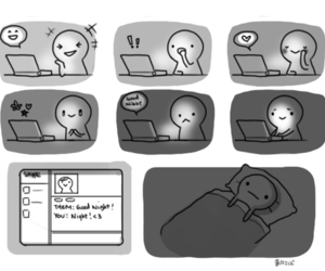 love and internet image