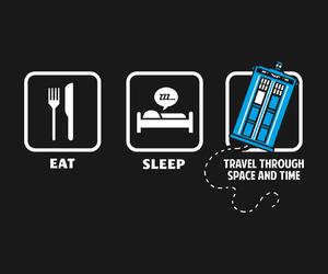 doctor who, tardis, and sleep image