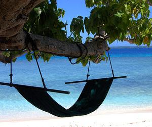 beach, summer, and hammock image