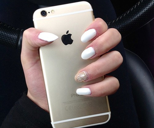 iphone 6, iphone, and nails image