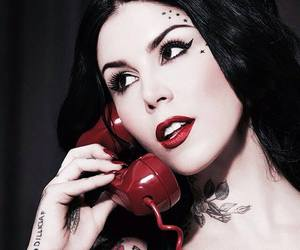 kat von d, tattoo, and beauty image