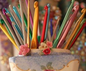 crochet, hooks, and cute image