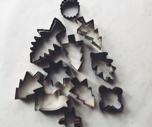 cookie cutter, xmas, and tree image