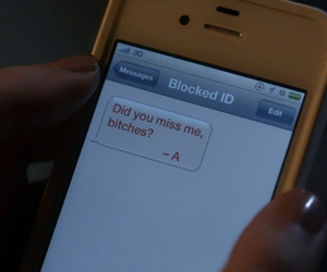 pretty little liars, pll, and message image