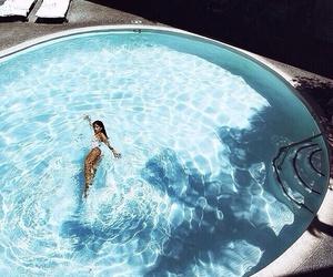 summer, pool, and girl image