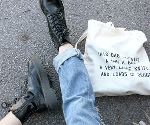 grunge, bag, and boots image