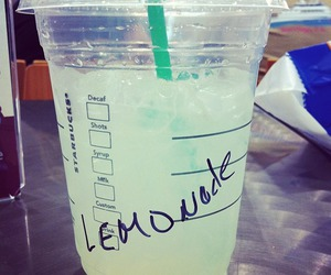 drink, lemonade, and starbucks image
