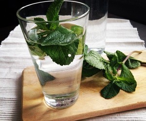 water, drink, and mint image