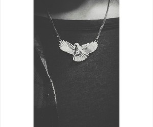 bird, necklace, and style image