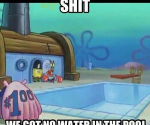 funny, spongebob, and pool image