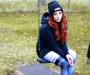 red head, style, and vans image