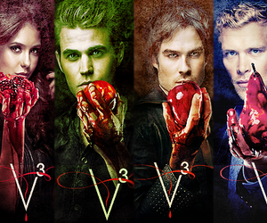 the vampire diaries, stelena, and klaus image