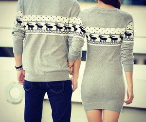 couple, fashion, and winter image