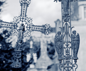 cemetery, cross, and god image