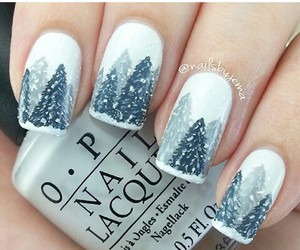 green, nails, and snow image