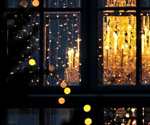 golden, window, and lights image