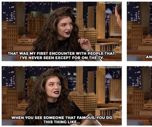 famous, jimmy fallon, and lorde image