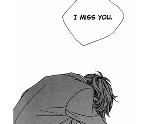 anime, depressed, and i miss you image