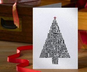 card, christmas, and christmas tree image