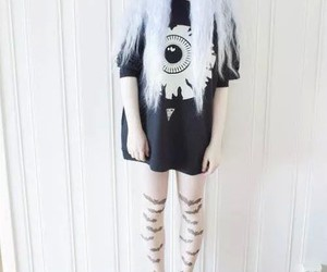 pastel goth, girl, and hair image