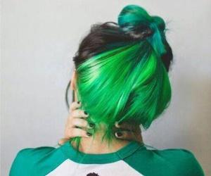 hair, green, and green hair image