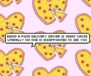 notes, pizza, and quotes image