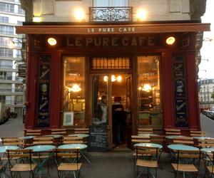book, cafe, and paris image