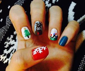 christmas, nails, and reindeer image