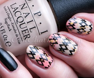 chic, nail art, and nail polish image