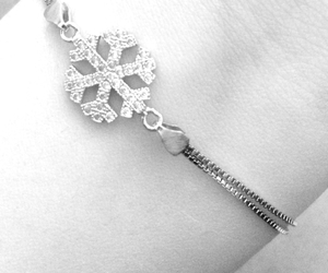 blackandwhite, snowflake, and winter image