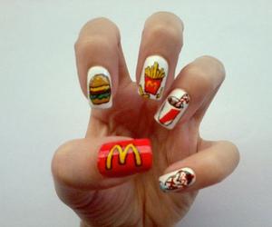 nails, nail art, and mc donalds image