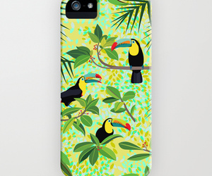 green, toucan, and ornaart image