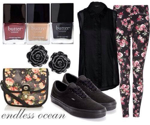 flowery, vans, and cute image