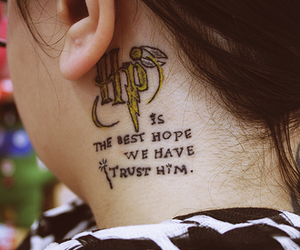 harry potter, tattoo, and trust image