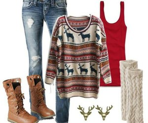 outfit, sweater, and winter image