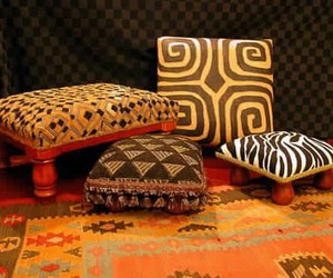 African, carpet, and chairs image