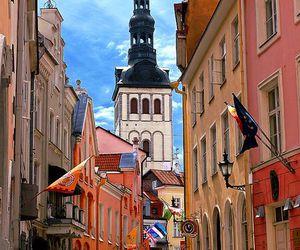 city, street, and estonia image