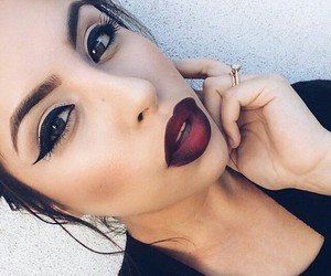 girl, lips, and make up image