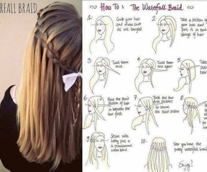 hair, cute, and braid image