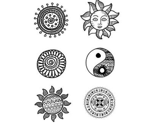 sun, black and white, and art image