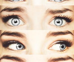 eyes, blue, and grey image