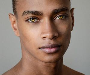 model, boy, and eyes image