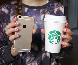 starbucks, iphone, and tumblr image