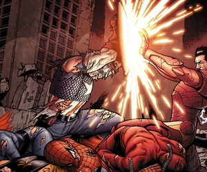 iron man, captain america, and Marvel image